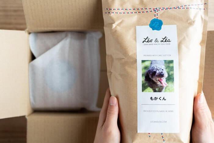 Leo&Lea(レオアンドレア)ドッグフードのオリジナルパッケージ
