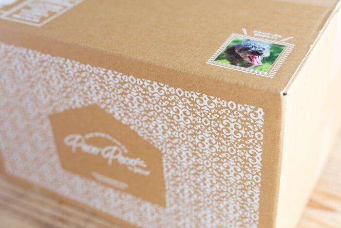 PECOPECO(ペコペコ)ドッグフードの愛犬の写真入り箱