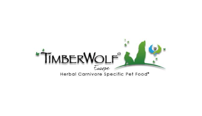 ティンバーウルフドッグフードのロゴ