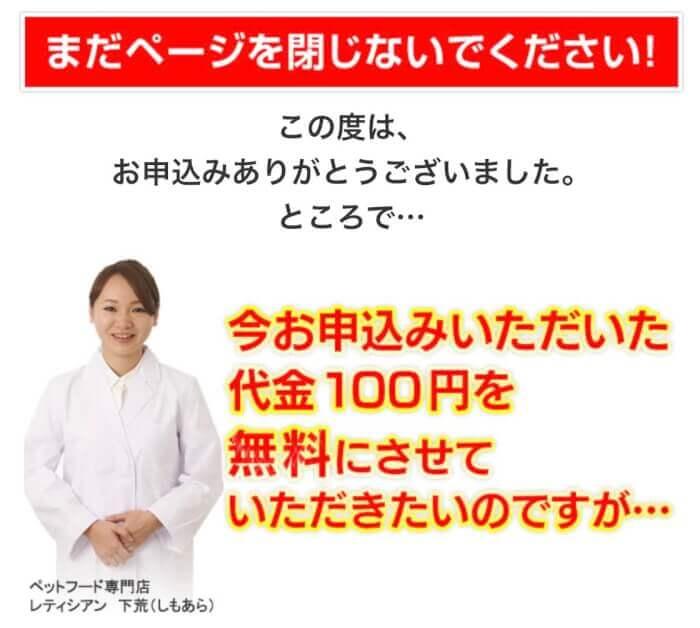 カナガンドッグフードお試し100円モニターの申し込み手順8