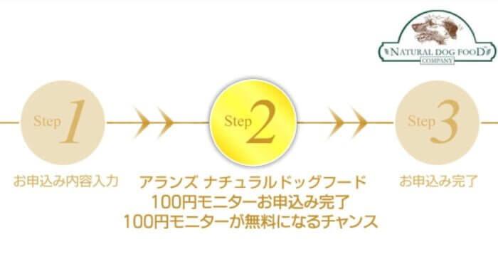 アランズナチュラルドッグフードお試し100円モニター申し込み手順7