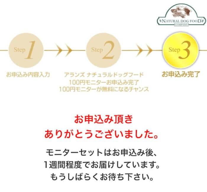 アランズナチュラルドッグフードお試し100円モニター申し込み手順11