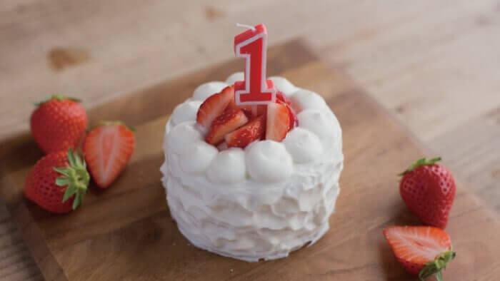 犬用の無添加手作り誕生日ケーキ