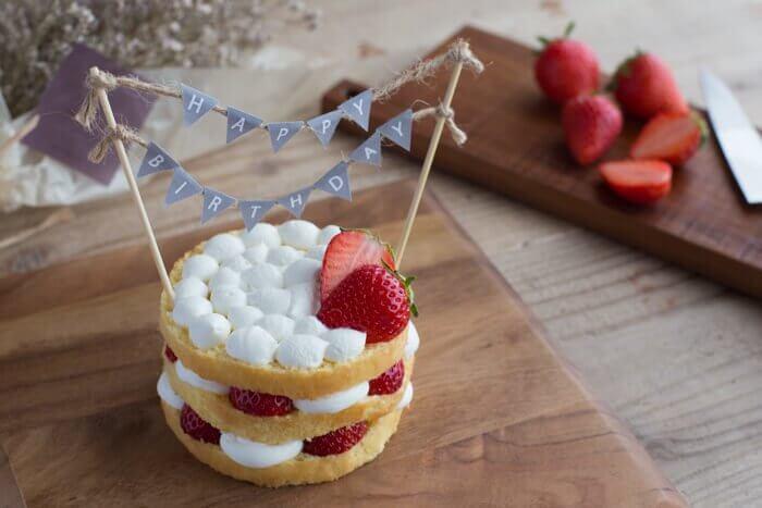 犬用手作り誕生日ケーキ