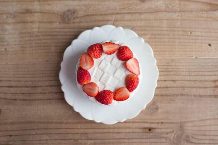 犬用の手作りショートケーキ