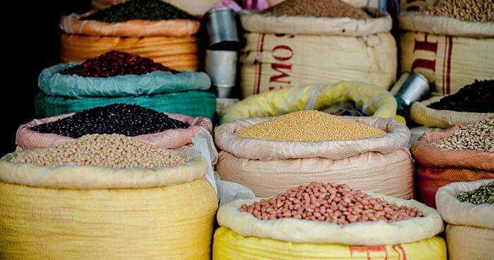 数種類のグレイン穀物