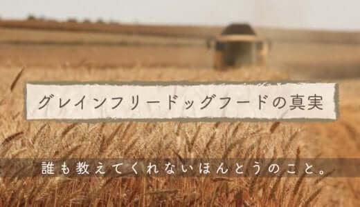 グレインフリードッグフードの真実|穀物不使用がいいって本当?メリットデメリットを徹底検証