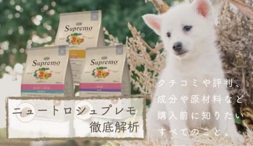 ニュートロシュプレモドッグフードの評判&評価|子犬用など種類や激安価格もチェック
