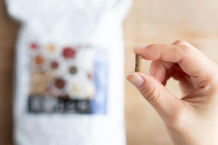 みらいのドッグフード膵臓病用の粒の大きさ